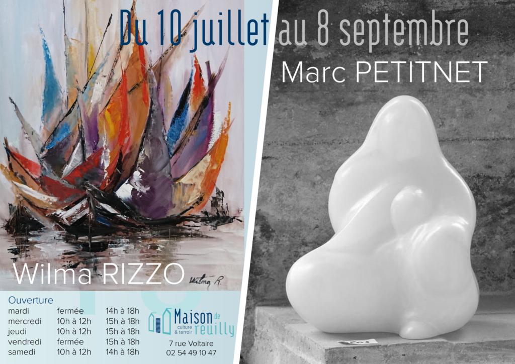 Expositions de Wilma RIZZO et de Marc PETITNET